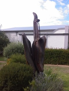 Fruit peeler sculpture