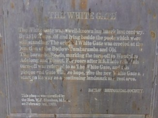 White Gate plaque and information