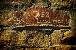 Carved his name in a wall.