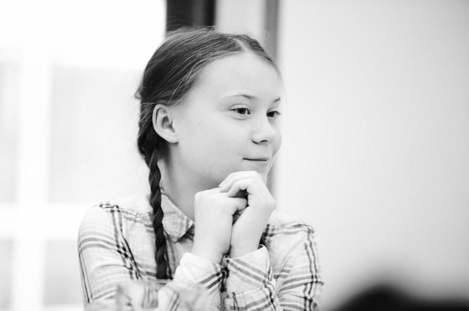 Filming Greta Thunberg in Parliament
