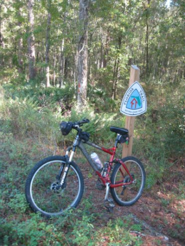 Jim-Schmid's-mtn-bike-on-FNST-in-Apalachicola-Nat-Forest-2013