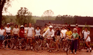 USC-Bicycle-Touring-class-group-photo-at-Canal-Park-Columbia-SC-Spring-1984