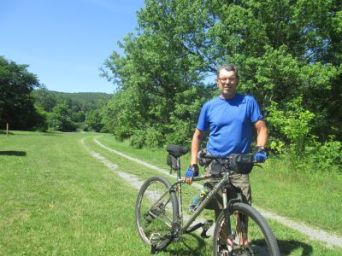 Jim-Schmid-with-mtn-bike-Greenbrier-River-Trail-WV-06_21-to-24-2015
