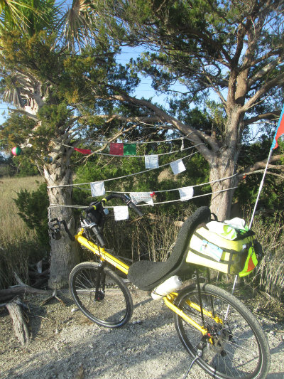 Jim-Schmid's-Bacchetta-Giro-recumbent-on-McQueens-Tybee-Island-Rail-Trail-GA-02-20-2016