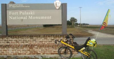 Jim-Schmid's-Bacchetta-Giro-recumbent-at-Fort-Pulaski-east-end-of-McQueens-Island-Historic-Rail-Trail-GA-02-20-2016