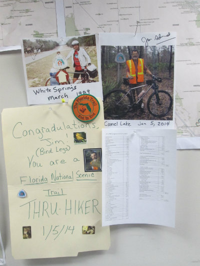 Jim-Schmid's congratulation-sign-for-completing-Florida-National-Scenic-Trail-2014