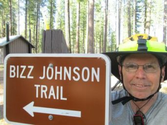 Jim-Schmid-next-to-Bizz-Johnson-Trail-sign-Mason-Station-CA-4-17&18-2016
