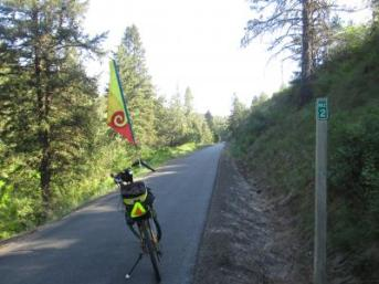 Jim-Schmid's-Bacchetta-Giro-recumbent-at-Milepost-2-Trail-of-the-Coeur-d'Alenes-ID-5-12-2016
