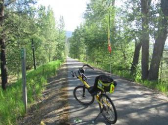 Jim-Schmid's-Bacchetta-Giro-recumbent-at-Milepost-43-Trail-of-the-Coeur-d'Alenes-ID-5-14-2016