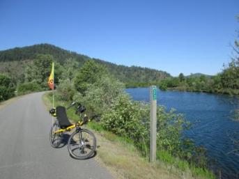 Jim-Schmid's-Bacchetta-Giro-recumbent-at-Milepost-23-Trail-of-the-Coeur-d'Alenes-ID-5-13-2016