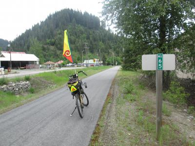 Jim-Schmid's-Bacchetta-Giro-recumbent-at-Milepost-65-Trail-of-the-Coeur-d'Alenes-ID-5-15-2016
