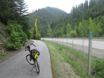 Jim-Schmid's-Bacchetta-Giro-recumbent-at-Milepost-68-Trail-of-the-Coeur-d'Alenes-ID-5-15-2016