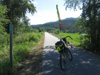 Jim-Schmid's-Bacchetta-Giro-recumbent-at-Milepost-29-Trail-of-the-Coeur-d'Alenes-ID-5-13-2016