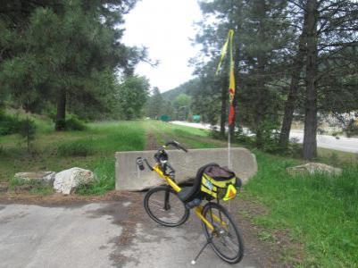 Jim-Schmid's-Bacchetta-Giro-recumbent-at-Mullan-end-of-trail-Trail-of-the-Coeur-d'Alenes-ID-5-15-2016