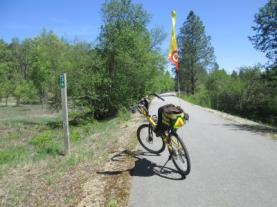 Jim-Schmid's-Bacchetta-Giro-recumbent-at-Milepost-36-Trail-of-the-Coeur-d'Alenes-ID-5-13-2016