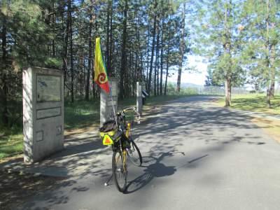 Jim-Schmid's-Bacchetta-Giro-recumbent-Rest-Stop-on-Centennial-Trail-ID-4-28-2016