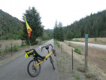 Jim-Schmid's-Bacchetta-Giro-recumbent-at-Milepost-56-Trail-of-the-Coeur-d'Alenes-ID-5-14-2016