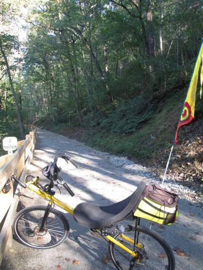 Jim-Schmid's-Bacchetta-Giro-recumbent-MP-3-Heritage-Ext-Rail-Trail-PA-10-5-2016