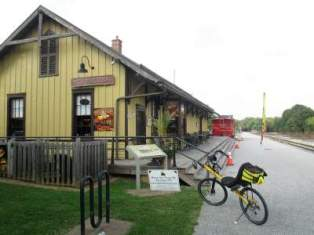Jim-Schmid's-Bacchetta-Giro-recumbent-on-Heritage-Rail-Trail-PA-10-5-2016