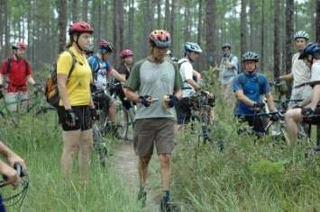 Valarie-Naylor-and-Jim-Schmid-Munson-Trail-assessment-ride-Tallahassee-FL-9-12-2009