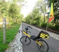 Jim-Schmid's-Bacchetta-Giro-recumbent-at-MP-7-Heritage-Rail-Trail-PA-10-5-2016