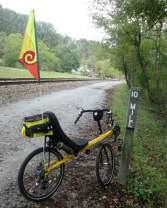 Jim-Schmid's-Bacchetta-Giro-recumbent-at-MP-10-Heritage-Rail-Trail-PA-10-5-2016