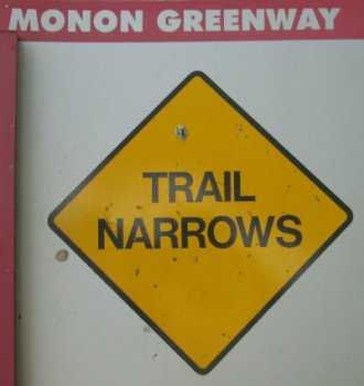 Trail-narrows-sign-Monon-Trail-IL-2015-08-23
