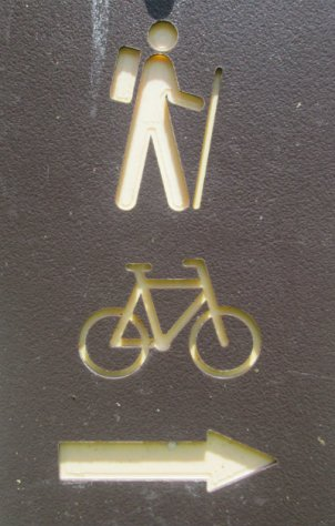 Hiker_bicycle_symbol_sign_Greenbrier-River-Trail-WV-06_21-24-2015