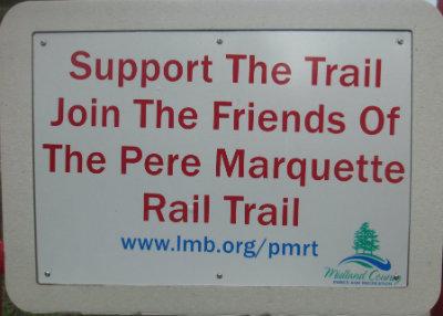 Support-the-trail-sign-Pere-Marquette-MI-2015-09-06