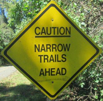 Caution-narrow-trails-ahead-sign-W&OD-Rail-Trail-VA-2015-10-6&7
