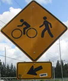 Bike-ped-symbol-sign-Springwater-Corridor-Portland-OR-4-25-2016