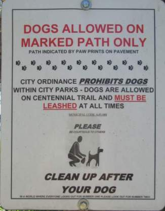 Dogs-allowed-on-path-only-sign-Centennial-Trail-Coeur-d'Alene-ID-4-28-2016