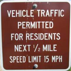 Vehicle-traffic-sign-Mickelson-Trail-SD-5-28-to-6-1-2016