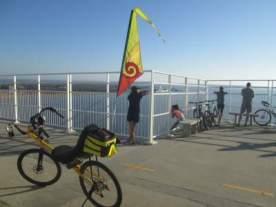 Jim-Schmid's-Bacchetta-Giro-recumbent-Ravenal-Bridge-Ped-Bike-Lane-Charleston-SC-12-25-2016