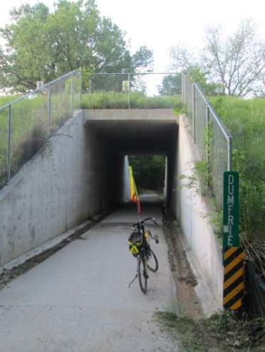 Jim-Schmid's-Bacchetta-Giro-recumbent-tunnel-Wabash-Trail-IA-5-16-17