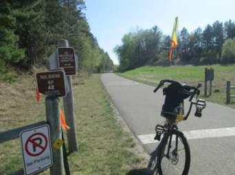 Jim-Schmid's-Bacchetta-Giro-recumbent-RP-42-end-of-trail-Paul-Bunyan-Trail-MN-5-14-17
