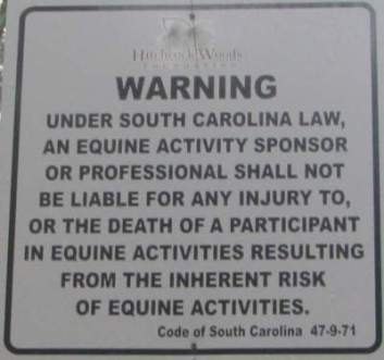 Equine-sign-Cathedral-Aisle-Trail-Aiken-SC-6-21-17