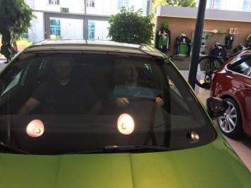 Skoda behind wheel