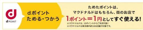 dポイント 1p=1円