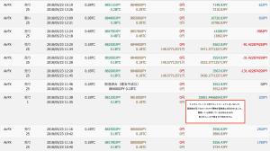5月23日ビットコインFXエントリー履歴1