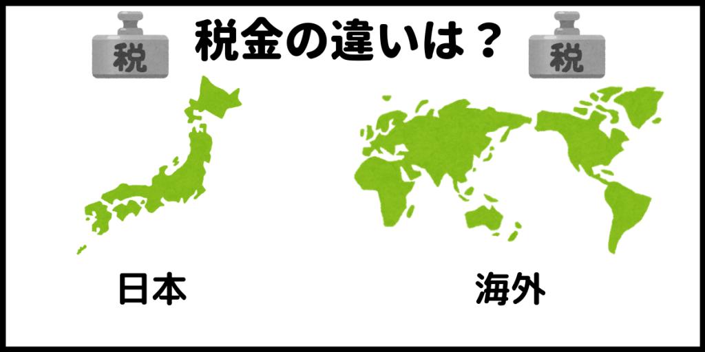 日本と海外の税金の違い