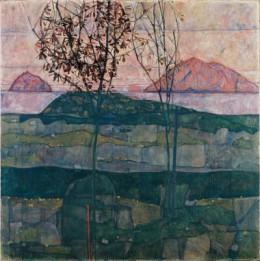 Egon Schiele: Versinkende Sonne, 1913, 89x90,5cm