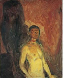 Munch self portrait in hell 1903