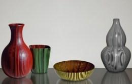 6. Rigati e tessuti glass vases and bowl_Scarpa_300