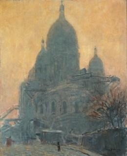 키이스 반 동겐(Kees Van Dongen), 「몽마르트 르 사크르쾨르 대성당(Montmartre, Le Sacré-Cœur)」 1904년.
