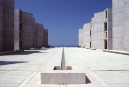 Salk Institute in La Jolla, California, Louis Kahn, 1959 – 65 © The Architectural Archives, University of Pennsylvania. Photo: John Nicolais.