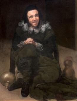 엄격한 위계체제와 근엄한 분위기라 내리누르는 궁정에서 해소 역할을 했던 궁정 광대. 벨라스케즈의 눈에 비친 광대란 실없음, 어리석음, 광기를 뜻했던 것으로 보인다. Diego Velázquez 『The Buffoon Juan de Calabazas (Calabacillas)』 c. 1638, Oil on canvas, 106 x 83 cm © Madrid, Museo Nacional del Prado