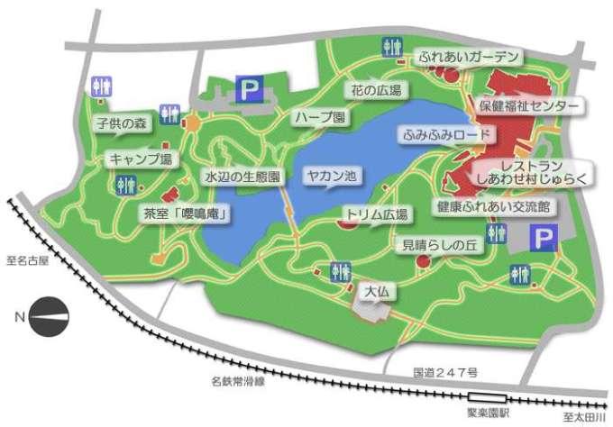jurakuen camp site map