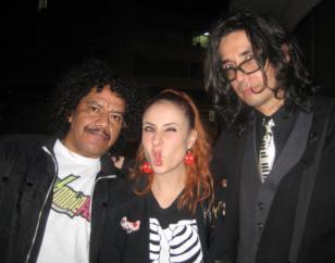 En la fiesta del Subterráneo, Don Alirio, María Daniela y el Sr. Juanito. Foto: Facebook Don Alirio