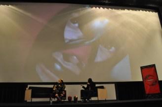 Satán se apareció en la charla con The Killer Film el crítico enmascarado. Foto: Fabian Zusto